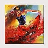 YHXIAOBAOZI 100% Handgemalt Abstrakt Abstrakte Frau Gemälde Auf Leinwand Sexy Tänzer Moderne Wand Kunst Schmuck Bilder Malen Für Live Zimmer Home Decor 60 × 60 cm (150 X 150 cm)
