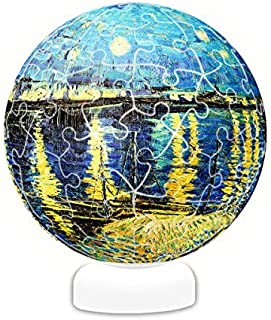 Pintoo - J1024 - Vincent Van Gogh - Starry Night Over The Rhone, 1888 - 60 Piece Plastic Puzzle Sphere Light