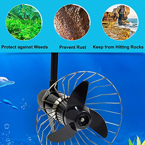 BXI Propeller's Safety Cage Prop Protection Trolling Motor Propeller Protector Anti-Winding Anti Aquatic Plants Canoe Kayak Boat Thrust Protective Stainless Steel Net (Small)