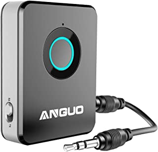 Bluetooth Transmitter and Receiver, ANGUO 2-in-1 3.5mm Audio Wireless Adapter for Speaker Home Stereo System