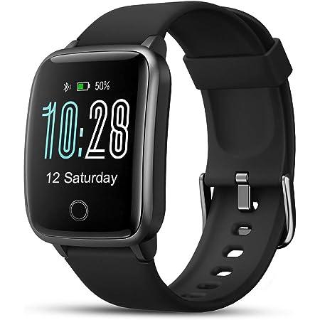 Montre Connectée, LIFEBEE Montre Intelligente Femmes Homme Etanche IP68, Bracelet Connecté SMS Message, Smartwatch Sport GPS Cardio Fitness Tracker d'Activité Podometre Calories pour Android iPhone