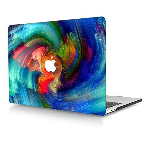 AJYX Plastic Hard Shell Case Only Compatible with Old Version MacBook Pro 13 Inch (Model: A1278, with CD-ROM) Release Early 2012/2011/2010/2009/2008 Laptop Matte Cover Case, Red & Blue Lines