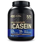 Optimum Nutrition Gold Standard Casein, Proteinas de Caseina en Polvo con BCAA Aminoacidos Esenciales, Zinc y Magnesio en Polvo, Chocolate, 55 Porciones, 1,82 kg, Embalaje Puede Variar
