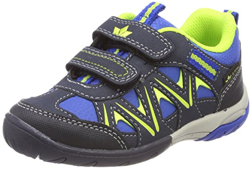 Lico KOLIBRI V H Sneaker Unisex Kinder, Blau/ Marine/ Lemon, 31 EU