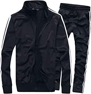 MACHLAB Men's Activewear Full Zip Warm Tracksuit Sports Set Casual Sweat Suit