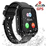 PTHTECHUS Kids Smartwatch Phone - IP67 Waterproof GPS Tracker Smartwatch for Boys Girls, Voice Chat SOS Remote Monitoring Safe Zone Alarm Camera Birthday for Kids