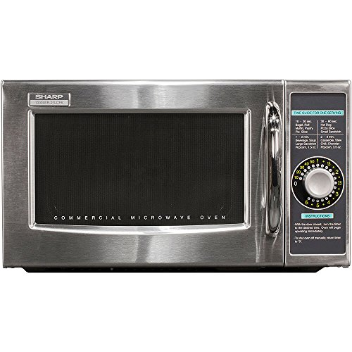 Sharp R-21LCFS Medium-Duty Commercial Microwave (Stainless Steel, Dial Timer, 1000-Watts, 120-Volts)