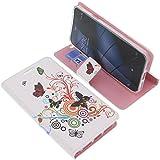 foto-kontor Tasche für Gigaset Me Book Style Schmetterlinge Schutz Hülle Buch