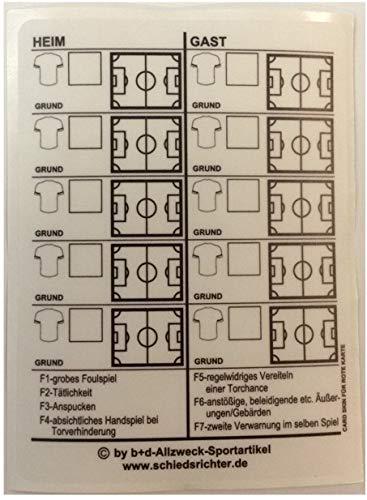 B+D Card Sticker transparante stickers voor gele en rode scheidsrechterkaarten