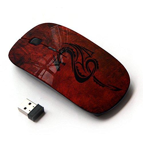 KawaiiMouse [ Optical 2.4G Wireless Mouse ] Red Tribal Dragon