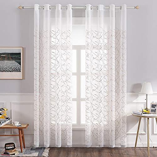 MMHJS Schnelltrocknender Vorhang Aus Polyestergarndruckvorhänge Im Europäischen Stilmöbel Liefern Wanddekorationenverdunkelungsvorhänge Für Schlafzimmer Und Wohnzimmer (2 Stück)