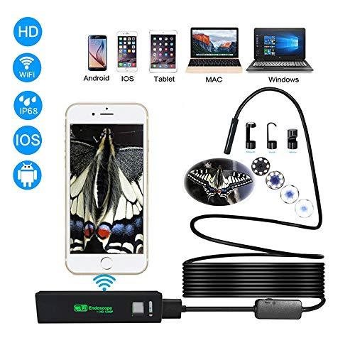 Endoskopische Drahtlose Wi-Fi-Endoskop-Inspektionskamera 2.0MP IP68 Wasserdichte Schlangenkamera Mit 8 Einstellbaren LED-Lichtern Für Ios- Und Android-Smartphones Und Mehr (5 M)