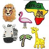 Africa Safari Set 6 piezas - Parches termoadhesivos bordados aplique para ropa