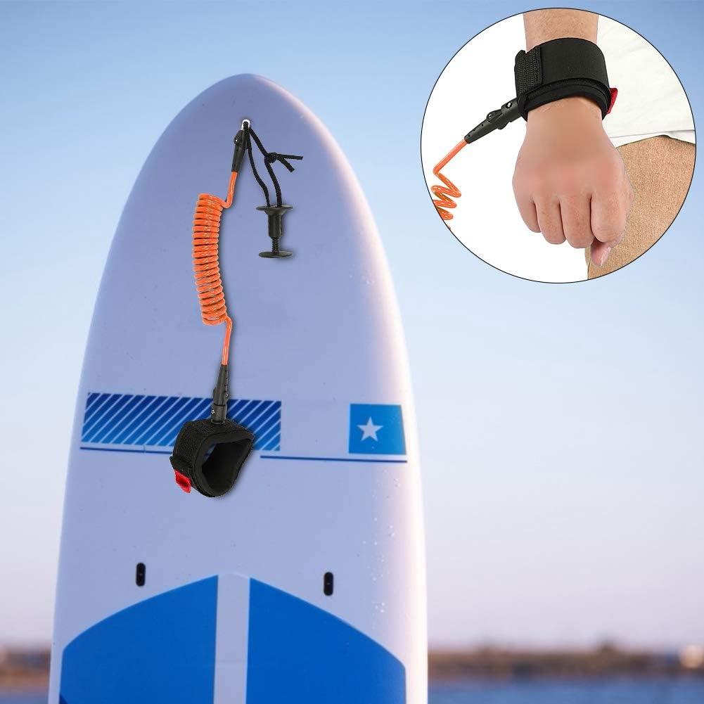 Bodyboard Coiled Wrist Leash Board Surfing Accessories 5.5MM//5ft Surf Board Leash