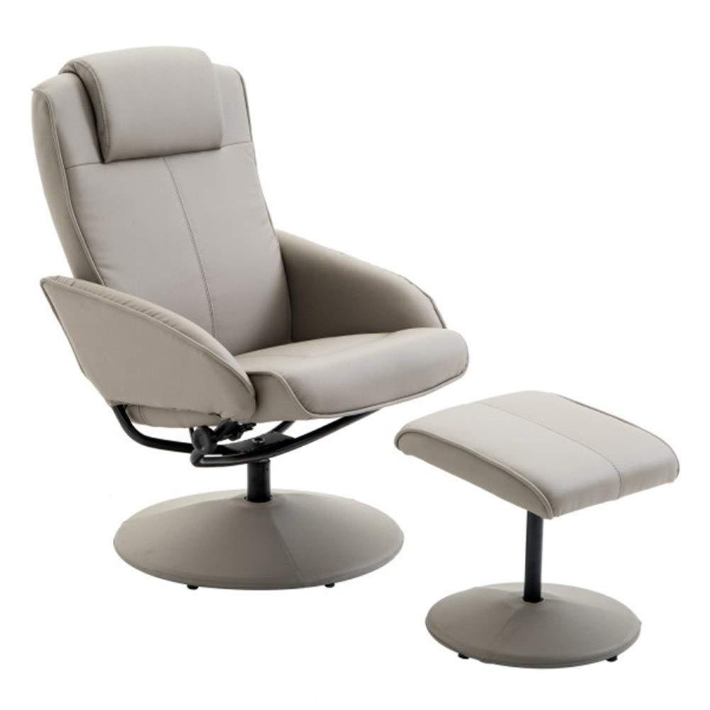 vidaXL Poltrona TV pelle artificiale nera con poggiapiedi schienale reclinabile