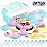 Tea Time Toys 50 Pieces Party Play Food for Kids, DIY Cutting Birthday Party...