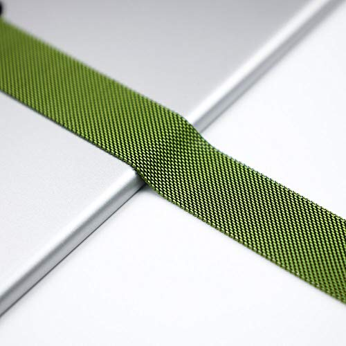NO BRANDED Bands For Watch Strap Series 5 4 3 Milanese Loop Iwatch Band 44mm 40mm 42mm 38mm Stainless Steel Bracelet Green