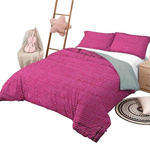 DayDayFun Bettbezug Magenta Tagesdecke Bettdecke für die ganze Saison Futuristisches Design in Alten Impressionen Latex Grungy Trübe Oberfläche Pastellfarben Queen Size Fuchsia Pink