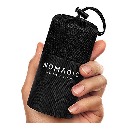 Nomadic Hüttenschlafsack aus Mikrofaser - Ultra Leicht, Klein und dünn. Reiseschlafsack, Schlafsack Inlett, Inlay I Ideal für Backpacking, Hostels und Berghütten