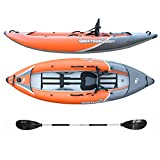 Driftsun Rover 120/220 Inflatable Tandem White-Water Kayak with High Pressure Floor and EVA Padded Seats with High Back Support, Includes Action Cam Mount, Aluminum Paddles, Pump and More