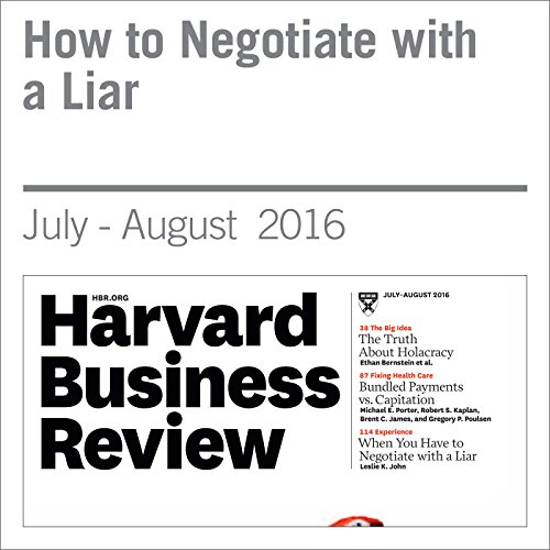 How to Negotiate with a Liar audiobook cover art