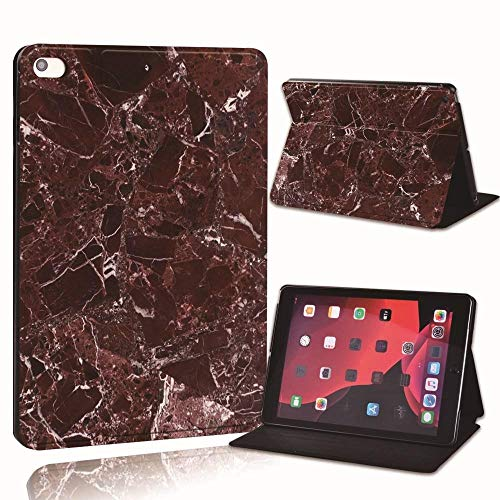 Printed Marble Pu Leather Smart Tablet Stand Folio Stand Case Cover For Ipad 2 3 4 5 6 /Ipad Mini 1 2 3 4 5 /Air 1 2 3/Pro 2nd (Color : Rosso, Size : IPad 5 6th 2017 2018)