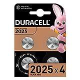 Le batterie Duracell a bottone al litio 2025 per chiavi telecomando, piccoli telecomandi, bilance, accessori da abbigliamento, sensori, glucometri, termometri digitali, monitor per frequenza cardiaca TECNOLOGIA BABY SECURE: uno strato a forma di anel...