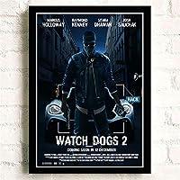 時計犬クラシックゲームポスター壁アート画像キャンバスポスターとプリントHDプリント油絵壁画リビングルーム家の装飾フレームレス絵画
