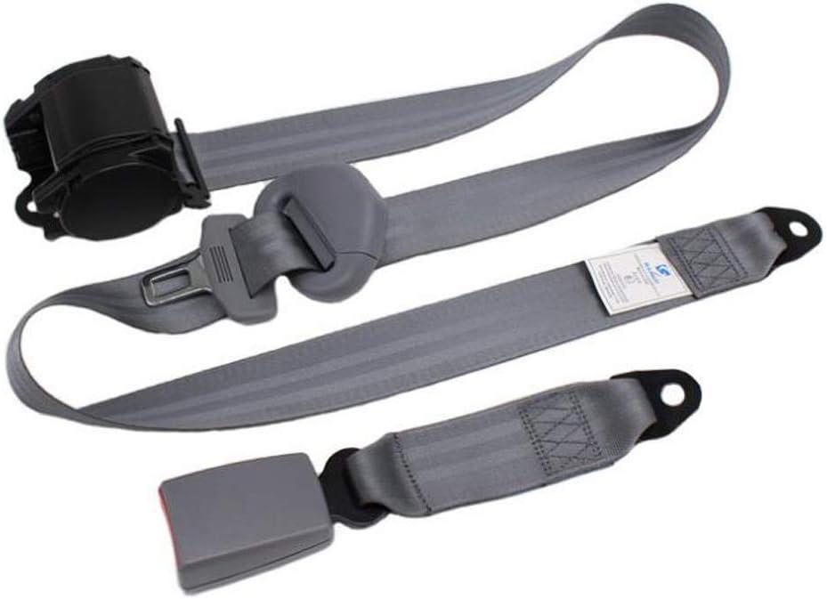 Color : Black CKH Car Seat Belt Auto Shrink Three-Point Seat Belt 3C Certification