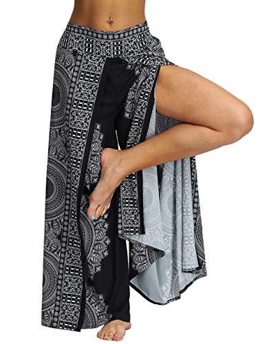Pantalones bohemios para mujer, estilo hippie, con pierna ancha, bohemio, sueltos, para yoga, palazzo, aladdin… | DeHippies.com