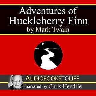 Adventures of Huckleberry Finn audiobook cover art