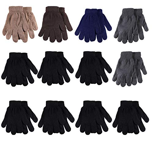 Gelante Adult Winter Knitted Magic Gloves Wholesale Lot 12 Pairs 9905-Assorted-12 Pairs
