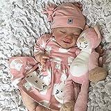 Muñeca Reborn niña Cuerpo Suave Cuerpo Suave Linda Cara Sonriente muñeca como bebé Real Cuidado Completo de Silicona fácil Lavable Regalo para niños y niñas,Baby Girl