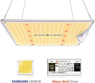 Spider Farmer SF 1000 LED Grow Light with Samsung Chips LM301B & Dimmable Mean Well Driver, Sunlike Full Spectrum 3000K 5000K 660nm 760nm IR for Indoor Plants Veg Flower