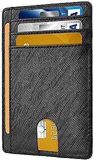 Universal RFID Blocking Anti Theft Slim Thin Leather Wallet Money Clip ID Credit Card Case Holder
