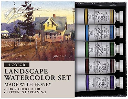 M. Graham & Co. Tube Watercolor Paint Landscape 5-Color Set, 1/2-Ounce