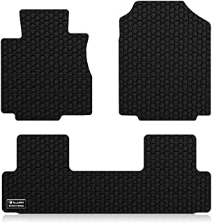 ToughPRO Floor Mats Set (Front Row + 2nd Row) Compatible with Honda CR-V - All Weather - Heavy Duty - (Made in USA) - Black Rubber - 2012, 2013, 2014, 2015, 2016