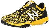 New Balance Men's 4040 V5 Turf Baseball Shoe, Black/Yellow, 5 W US