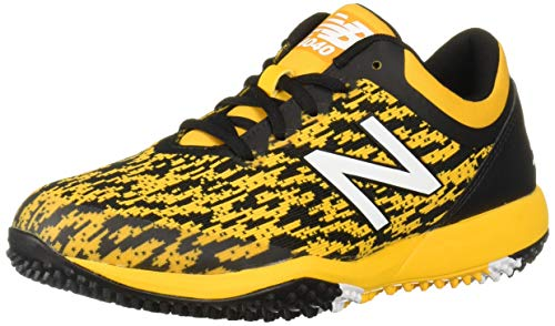 New Balance Herren 4040 V5 Turf Baseballschuh, Grau (schwarz/gelb), 45 EU