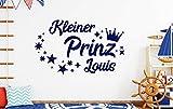 tjapalo db-pkm359 Wandtattoo Kinderzimmer junge name Wandtattoo jungenzimmer Wandtattoo kleiner Prinz mit Namen (B100 x H58 cm)