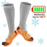 XBUTY Heated Socks for Women Men, Rechargeable Electric Socks Battery...