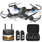 GPS Drone with 4K Camera for Adults, Dual Camera 5G WiFi FPV Live Video Foldable Drone 30mins Flight Time,120°Wide-Angle Auto Return Follow Me, Easy for Beginner