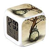 R-timer - Orologio a LED con sveglia e luce notturna, serie Anime, con Totoro, per teenage