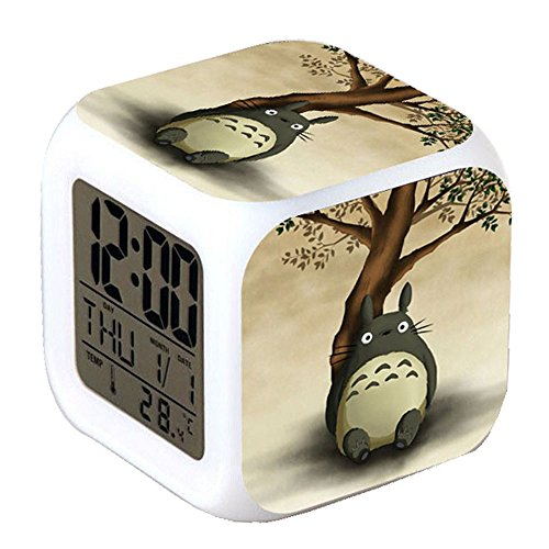 R-timer Clock Neue Anime Totoro Series Alarm-LED-Licht Nachtlicht Zubehör für Teenager (Art E)
