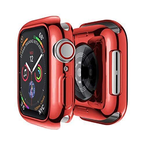 MPWPQ Cubierta para la Caja del Reloj de Apple 44mm / 40mm 42mm / 38mm Accessories Soft All-Round TPU Pantalla de Parachoques Protector para iWatch Series SE 3 4 5 6 Reloj Correa