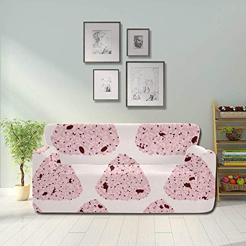 AQQA Cartoon Delicious Pack Cute Rice Ball Sofa Seat Cover Living Room Couch Covers Fitted Furniture Protector 2&3 Seat Sofas