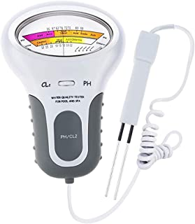 2in1 ph計 PHテスター 塩素濃度測定 PH&CL2塩素レベル 水質検査 水族館/プール/温泉/スパ/水槽用 高精度 自動温度補正 プローブ付き