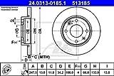 Ate 24.0313-0185.1 Rotores de Discos de Frenos, Set de 2