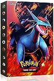 Funmo Álbum de Pokemon, Pokémon Titular de Tarjetas, Pokemon Cards GX EX Album Pokemon Cards Album Book, Album Pokemon Puede acomodar 120 Tarjetas Individuales (Rojo Dragón de Boca Plana)