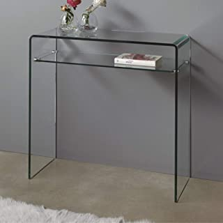 Dugarhome - Recibidores Modernos de Cristal - Consola Cristal Pequeña